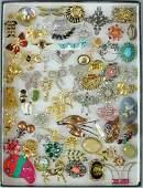60 COSTUME JEWELRY PINS