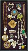 (14) PIECE SIGNED COSTUME JEWELRY GROUP