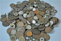 LARGE GROUP OF INTERNATIONAL COINS - MOST CHINESE
