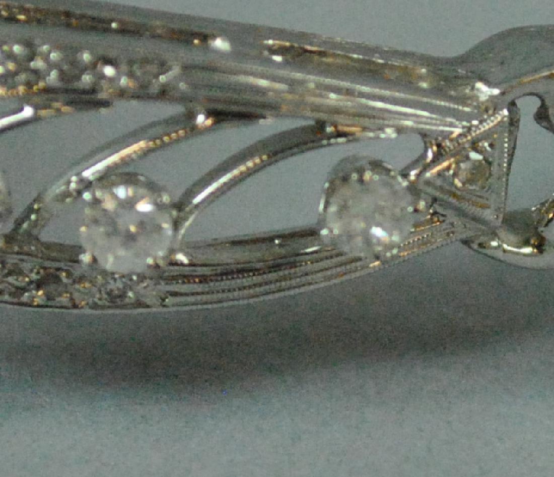 14K DIAMOND HINGED BANGLE BRACELET - 5