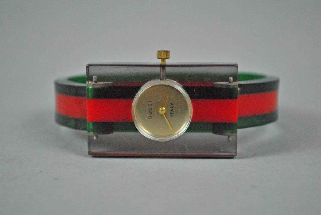 VINTAGE GUCCI LUCITE WATCH
