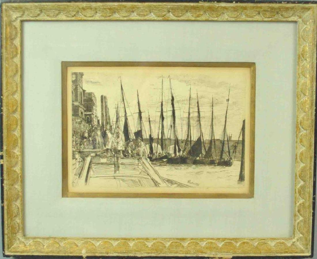 JAMES WHISTLER ETCHING - BILLINGSGATE - 2