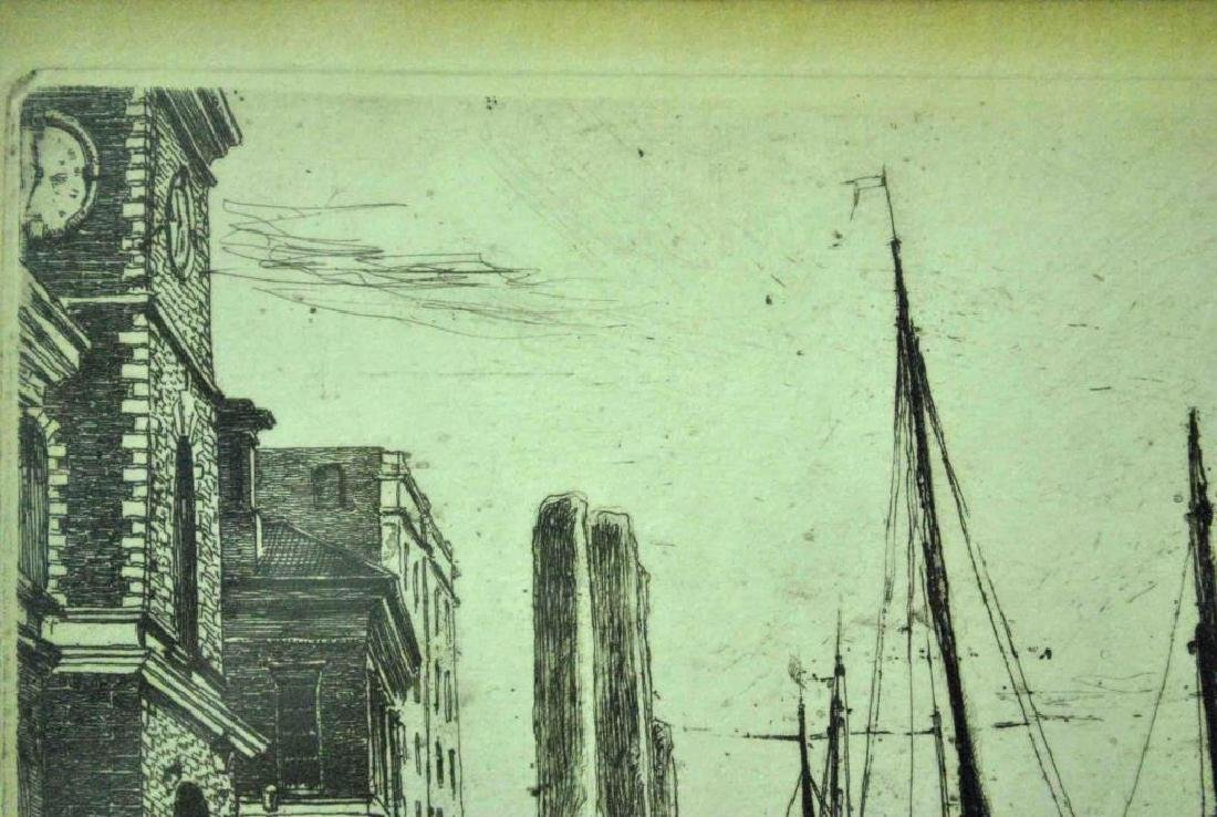 JAMES WHISTLER ETCHING - BILLINGSGATE - 3