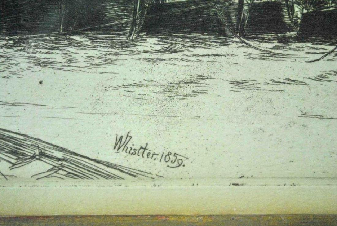 JAMES WHISTLER ETCHING - BILLINGSGATE - 5