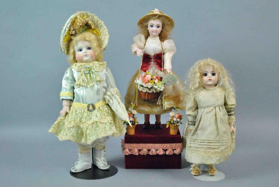 (3) VINTAGE REPRODUCTION DOLLS