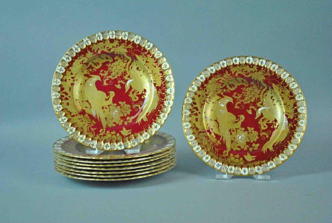 (9) ROYAL CROWN DERBY CABINET PLATES