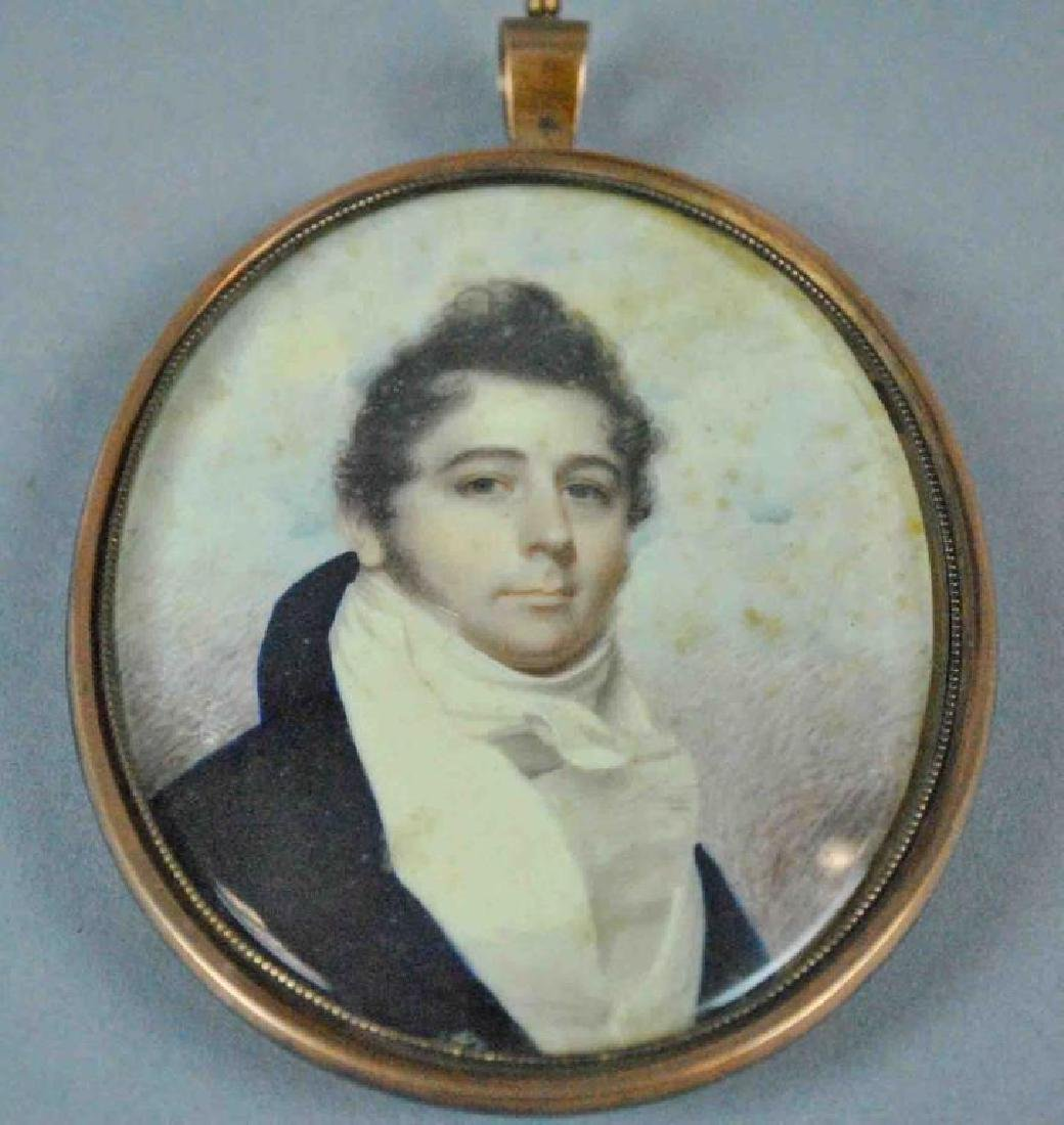 MOURNING PORTRAIT MINIATURE OF A GENT