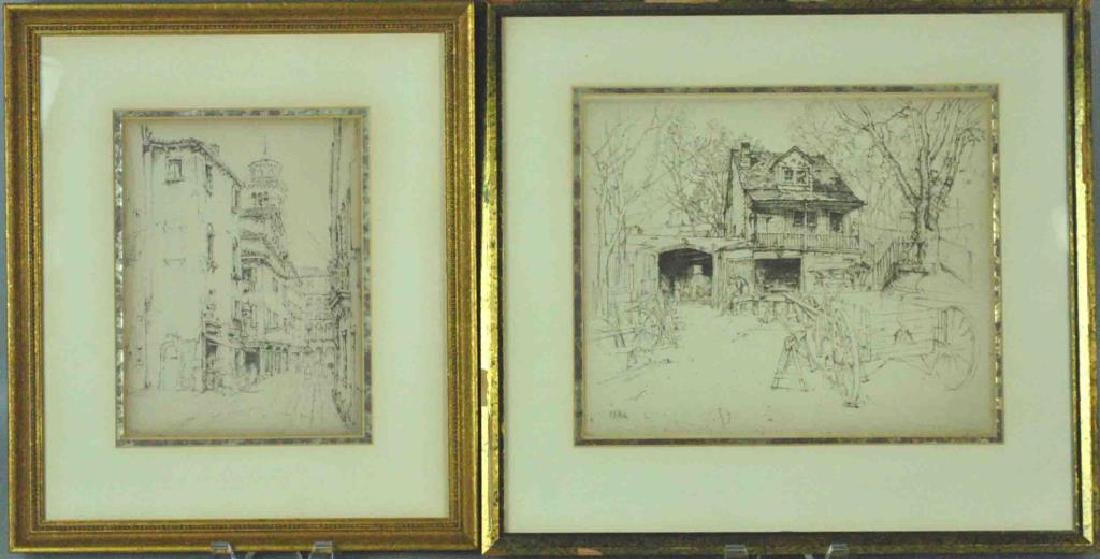 (2) ERNEST D. ROTH ETCHINGS