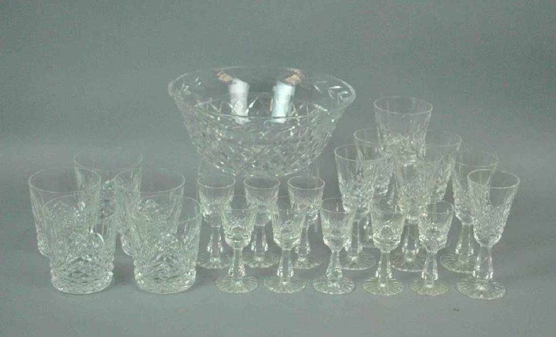 (20) PIECE WATERFORD KENMARE STEMWARE AND A BOWL
