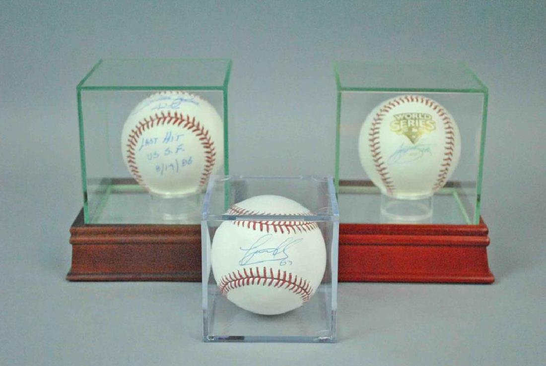 (3) STEINER AUTHENTICATED SIGNED BASEBALLS
