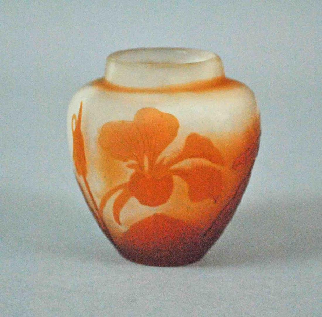 GALLE MINIATURE CAMEO GLASS VASE