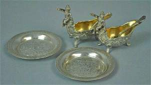 6 PIECE SILVER TABLEWARES GROUP