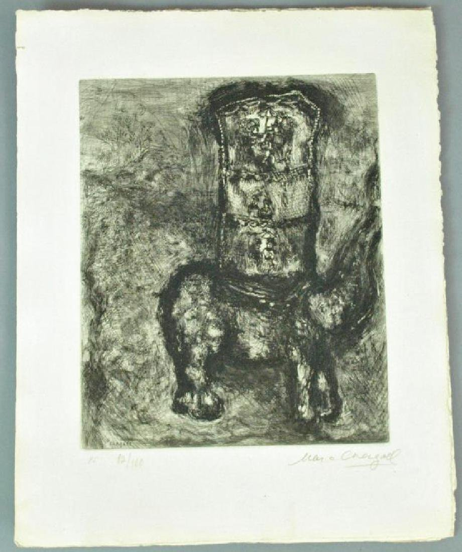 (5) CHAGALL ETCHINGS FROM FABLES OF LA FONTAINE - 2