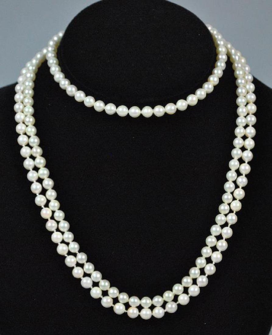 (2) CULTURED PEARL NECKLACES