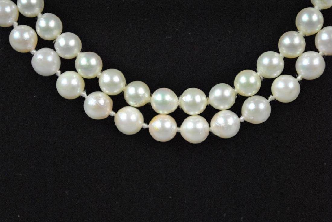 (2) CULTURED PEARL NECKLACES - 2