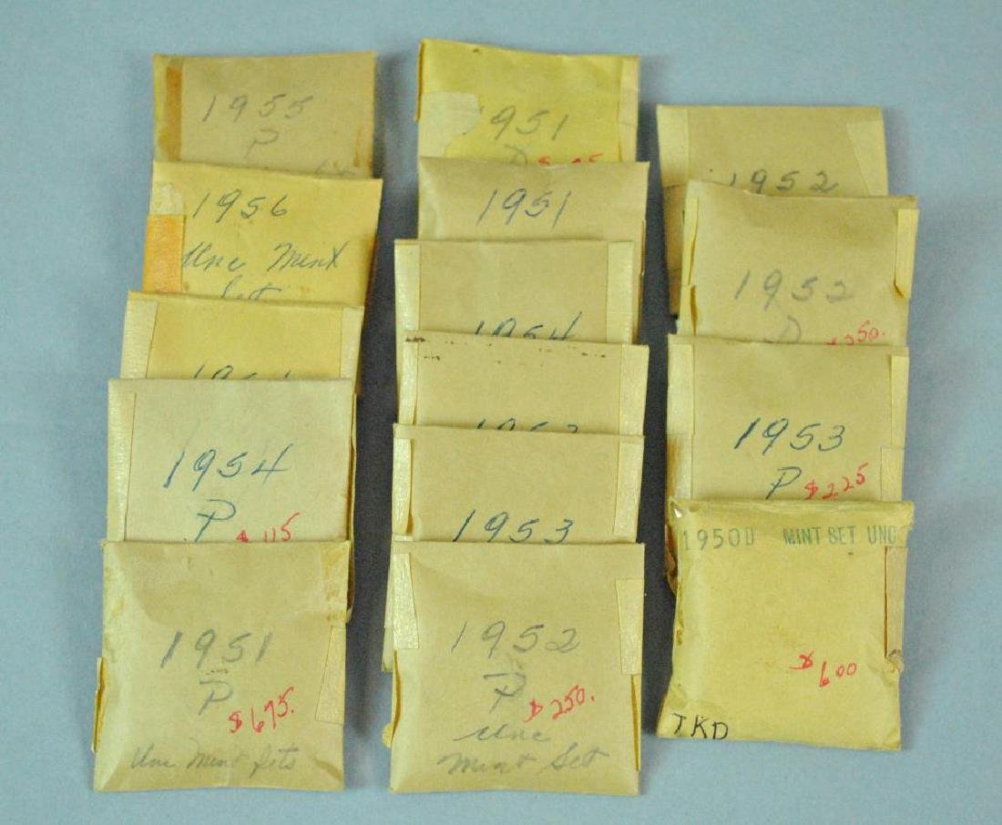 (15) 1950'S UNCIRCULATED US MINT 5-COIN SETS