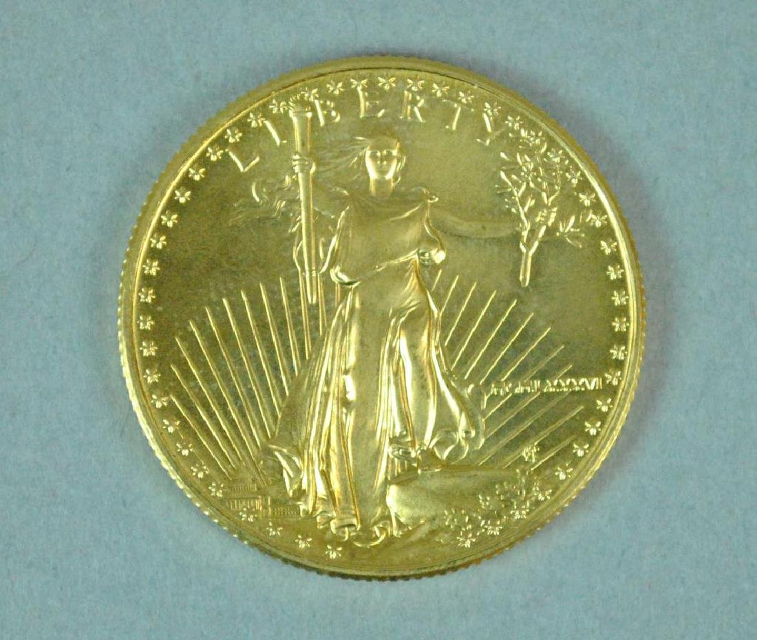 1986 US GOLD EAGLE $25 COIN