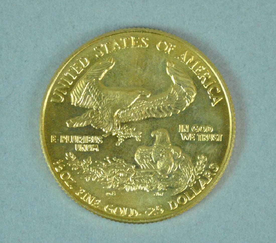 1986 US GOLD EAGLE $25 COIN - 2
