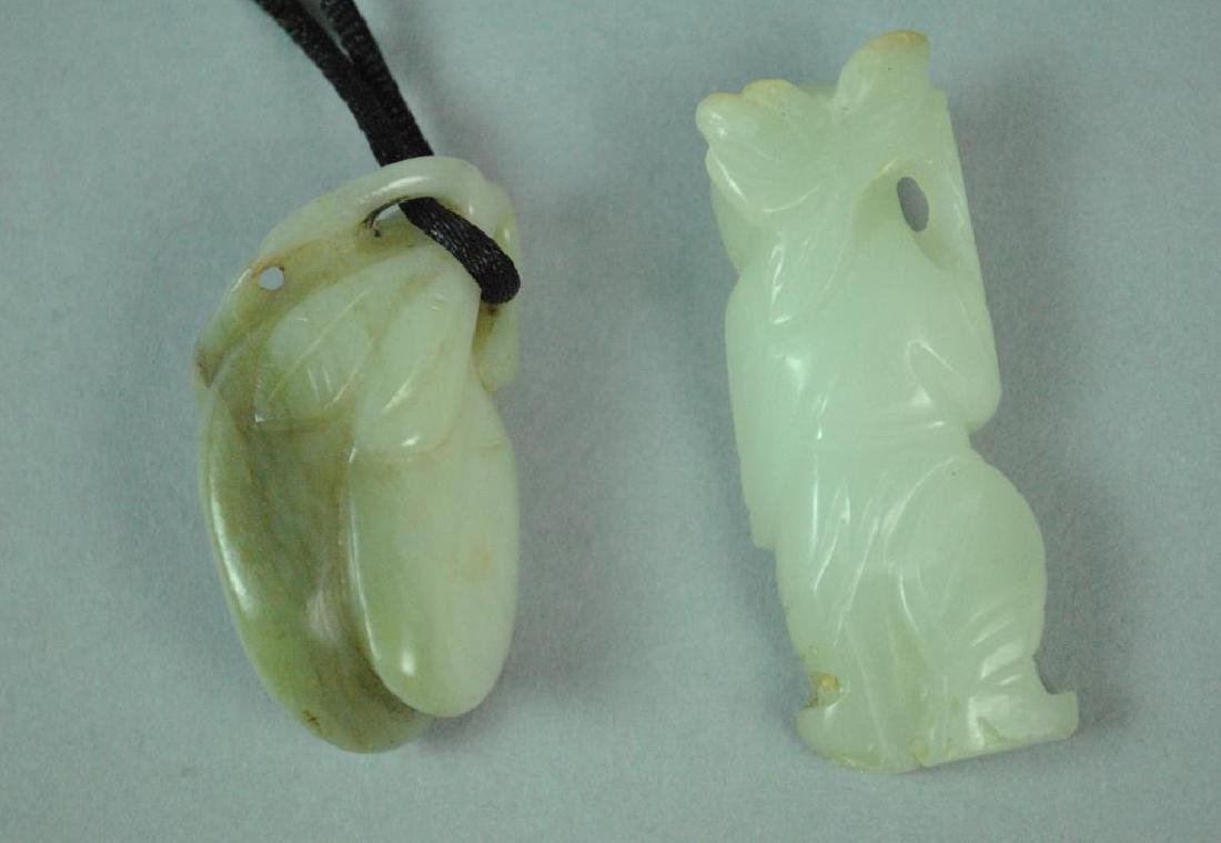 (2) CHINESE JADE MINIATURE CARVINGS - 2