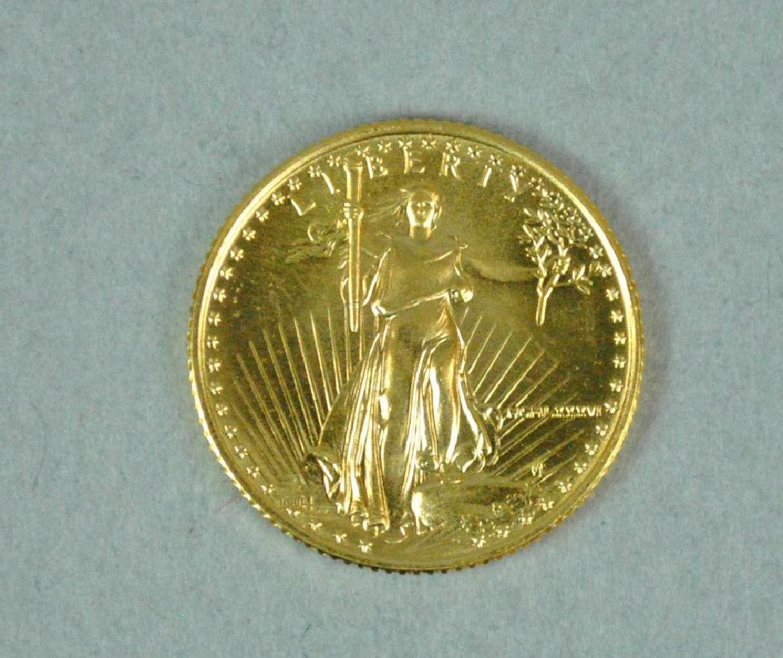 1986 US GOLD EAGLE $5 COIN