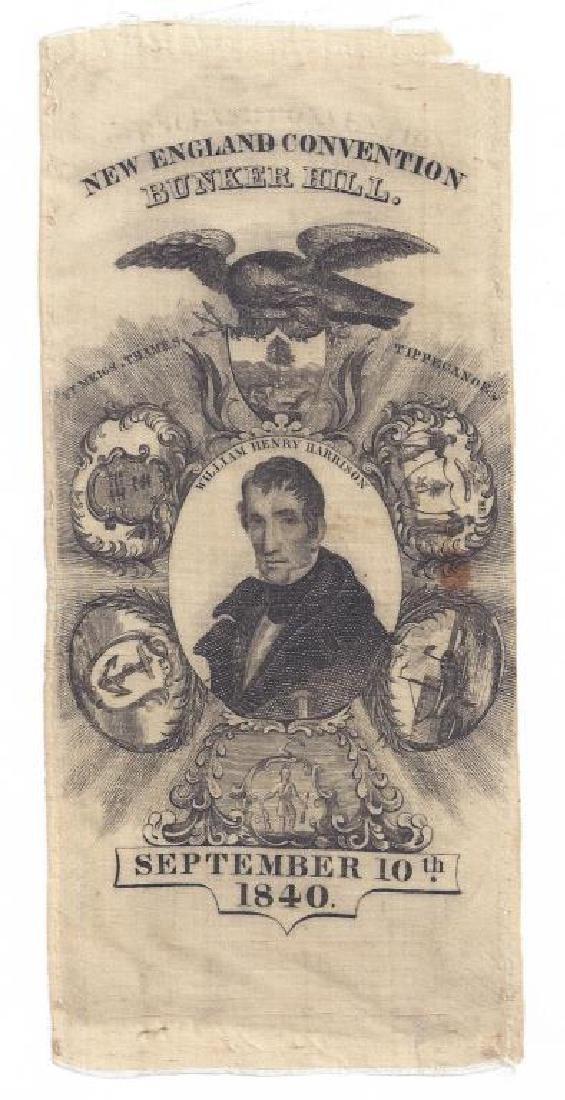 1840 SILK COMMEMORATIVE RIBBON