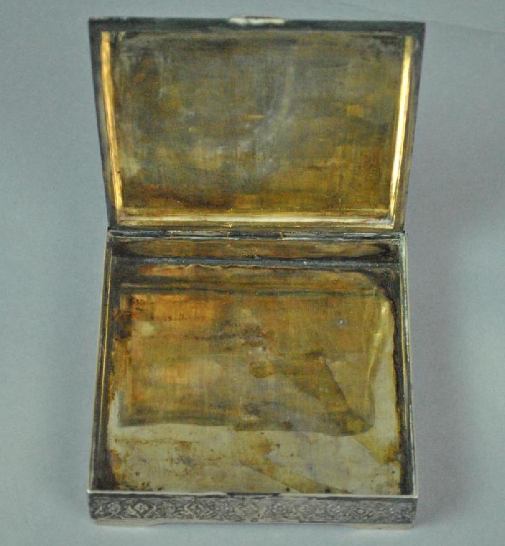 PERSIAN SILVER & ENAMEL BOX - 2