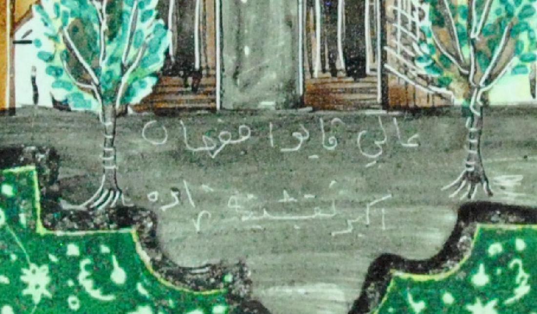 PERSIAN SILVER & ENAMEL BOX - 4