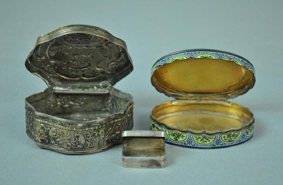 (3) HINGED SILVER BOXES - 2
