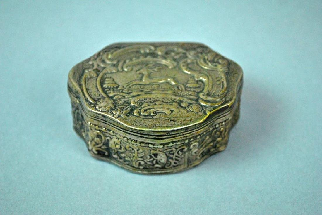 (3) HINGED SILVER BOXES - 5