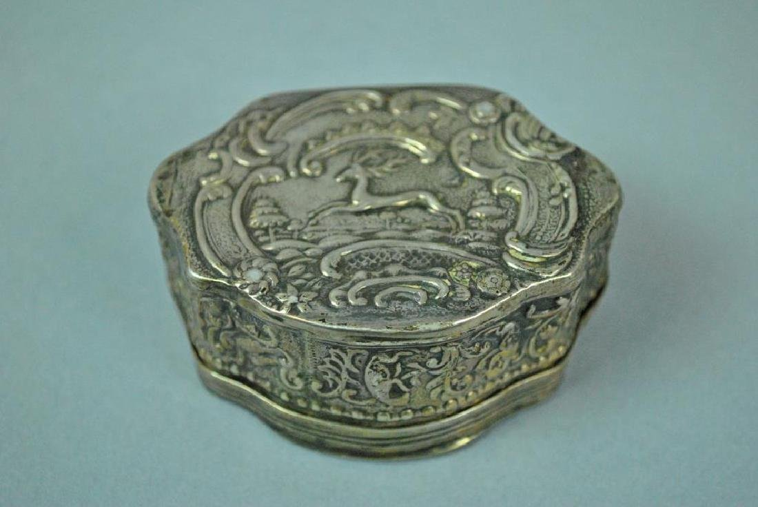 (3) HINGED SILVER BOXES - 6
