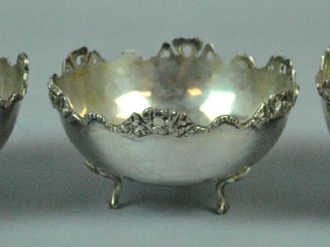 (3) CONTINENTAL 800 SILVER MONTEITH-FORM BOWLS - 2