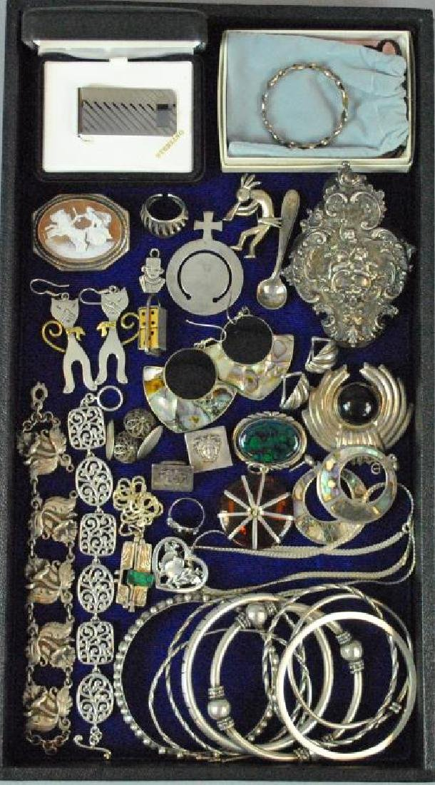 (30+) SILVER JEWELRY GROUP
