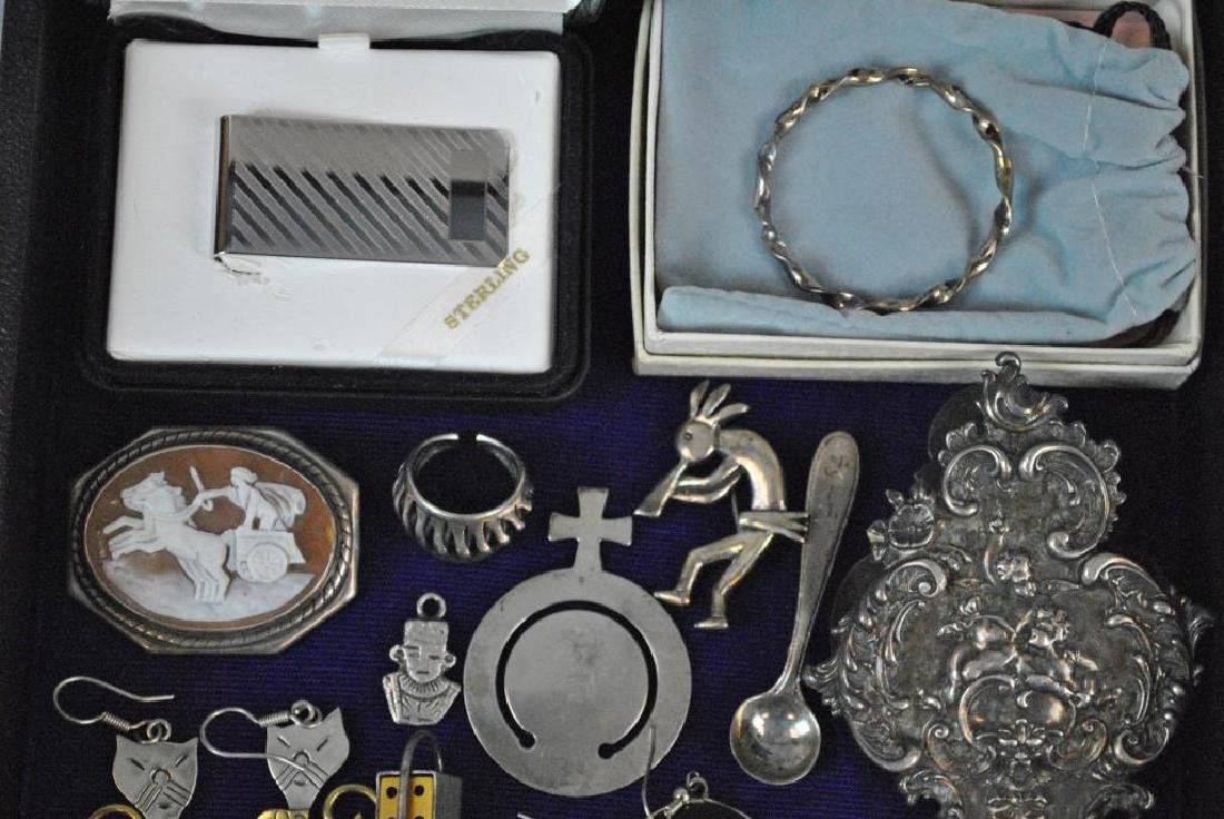 (30+) SILVER JEWELRY GROUP - 2