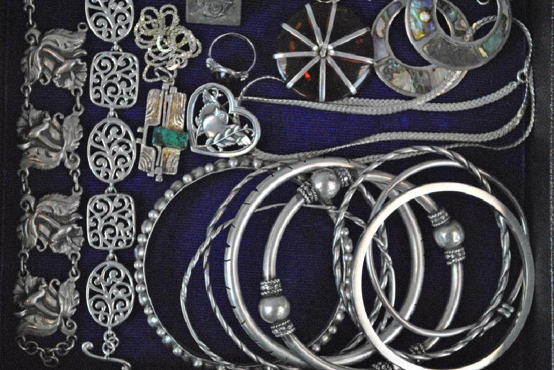 (30+) SILVER JEWELRY GROUP - 5