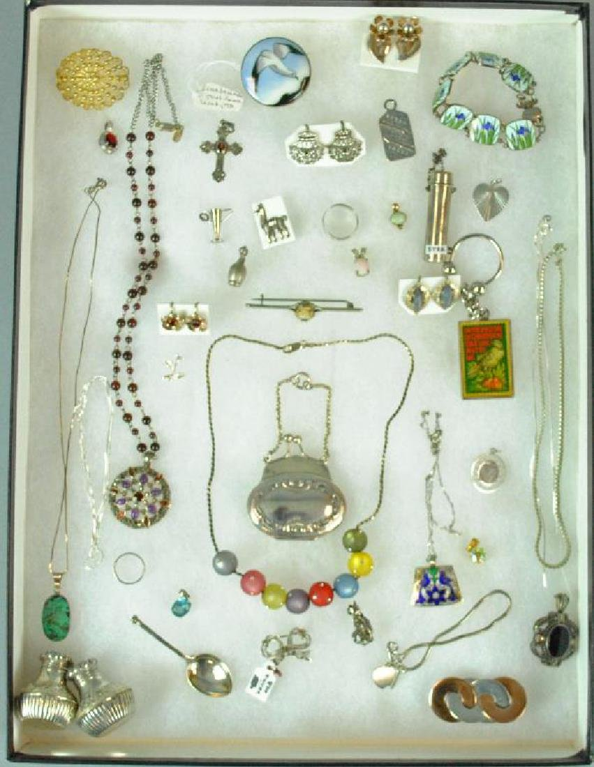 (40+) SILVER JEWELRY & OBJECTS