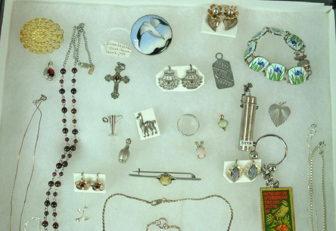 (40+) SILVER JEWELRY & OBJECTS - 2
