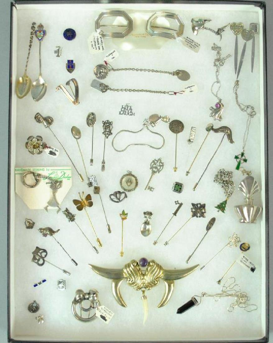 (50+) SILVER JEWELRY & OBJECTS
