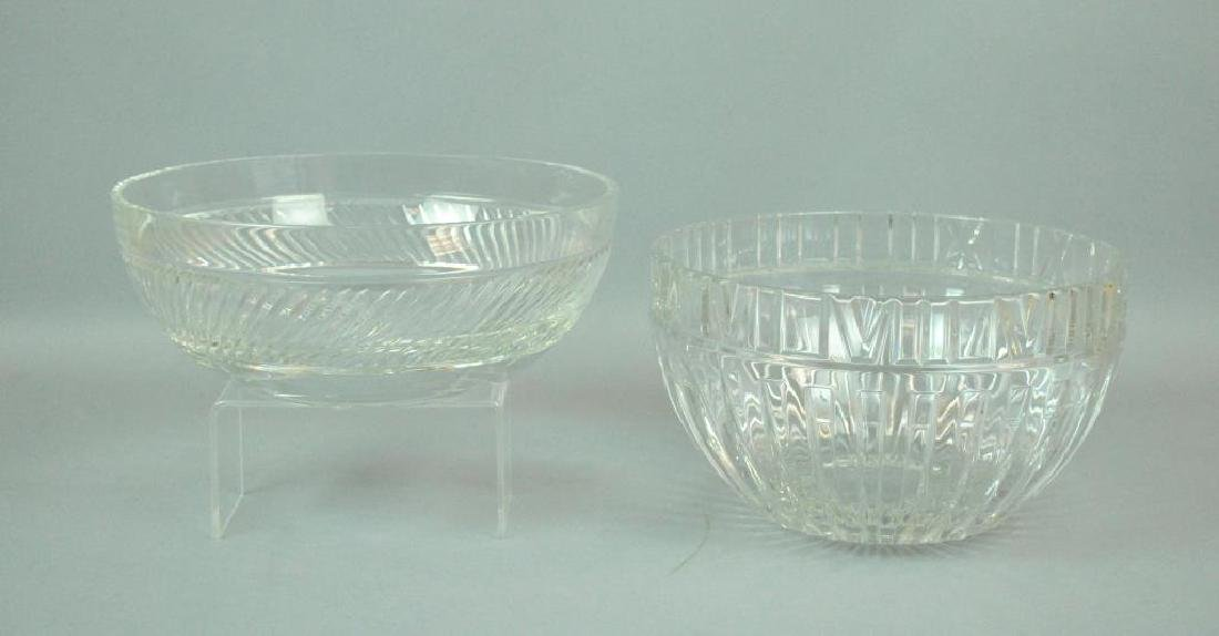 (2) LARGE TIFFANY & CO. CRYSTAL BOWLS