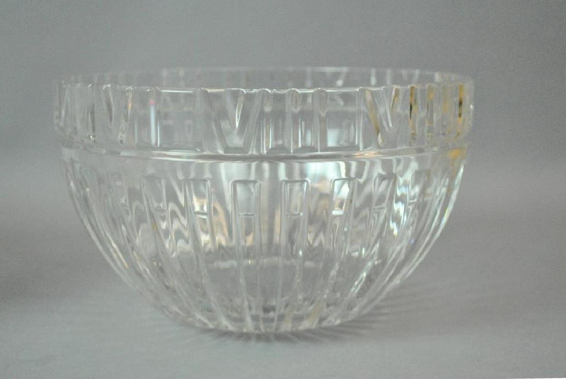 (2) LARGE TIFFANY & CO. CRYSTAL BOWLS - 3