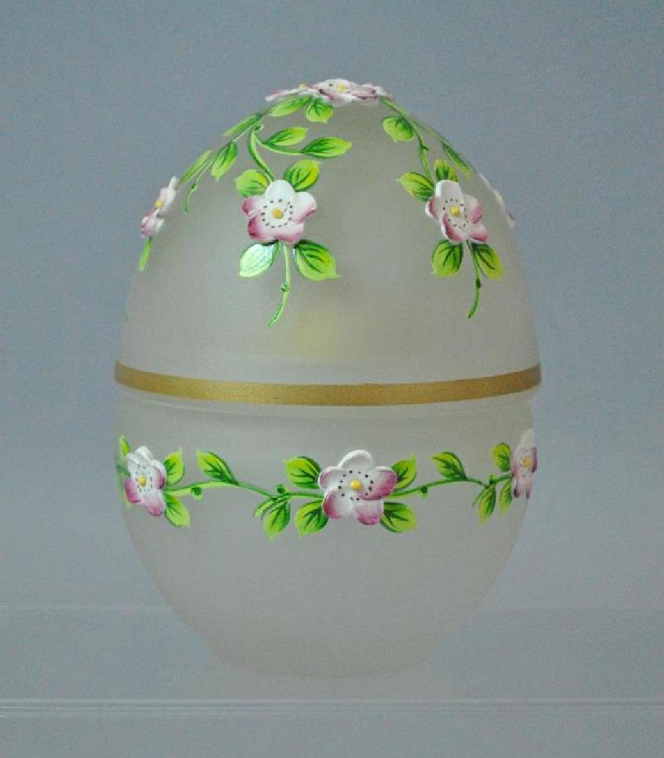 THEO FABERGE LIMITED EDITION CRYSTAL & SILVER EGG