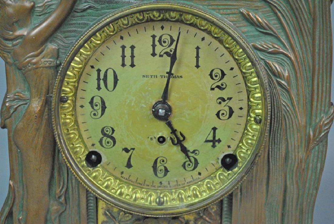 SETH THOMAS ART NOUVEAU MANTLE CLOCK - 3