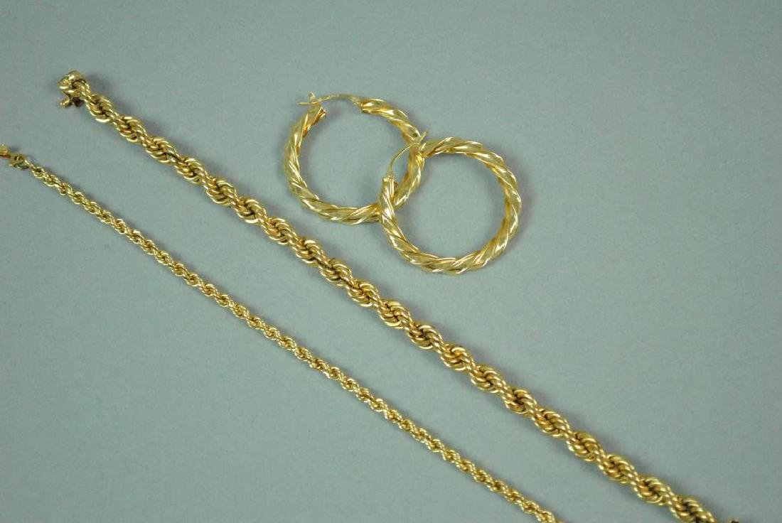 (3) 14K ROPE GOLD JEWELRIES - 2
