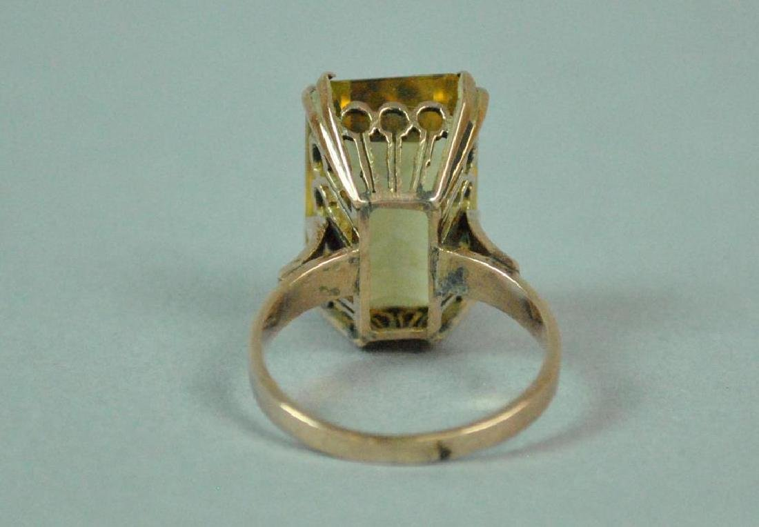 10K  ROSE GOLD BERYL RING - 4