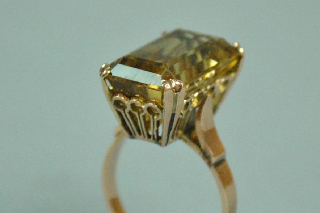10K  ROSE GOLD BERYL RING - 5