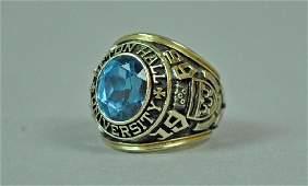 1965 SETON HALL UNIVERSITY HEAVY GOLD RING