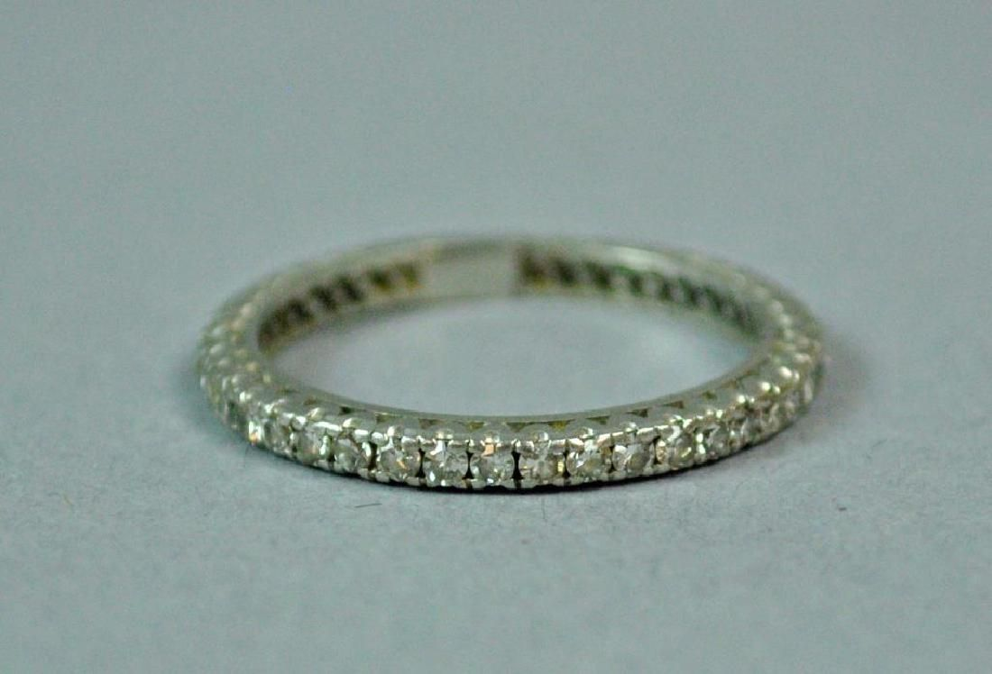 PLATINUM & DIAMOND ETERNITY BAND, 0.90CT