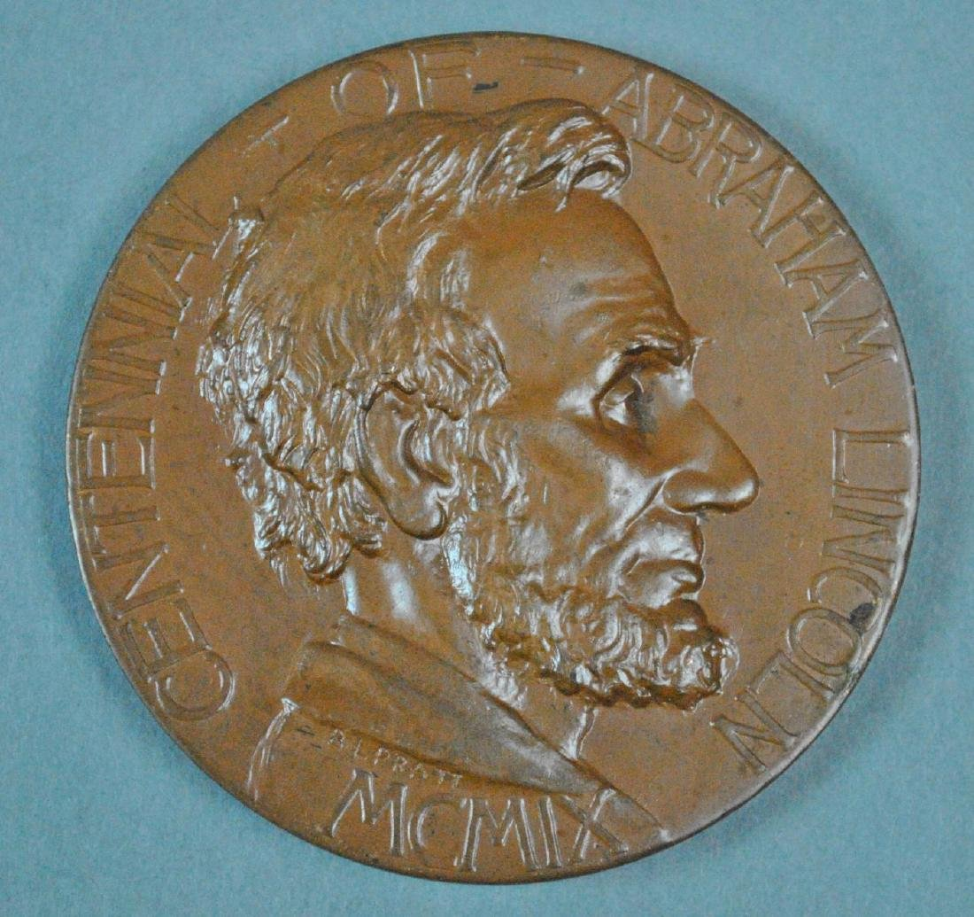 (3) ABRAHAM LINCOLN TOKENS / MEDALS - 5