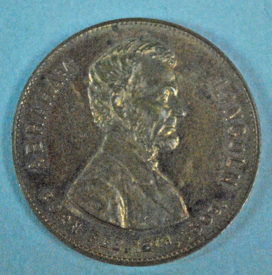 (3) ABRAHAM LINCOLN TOKENS / MEDALS - 7