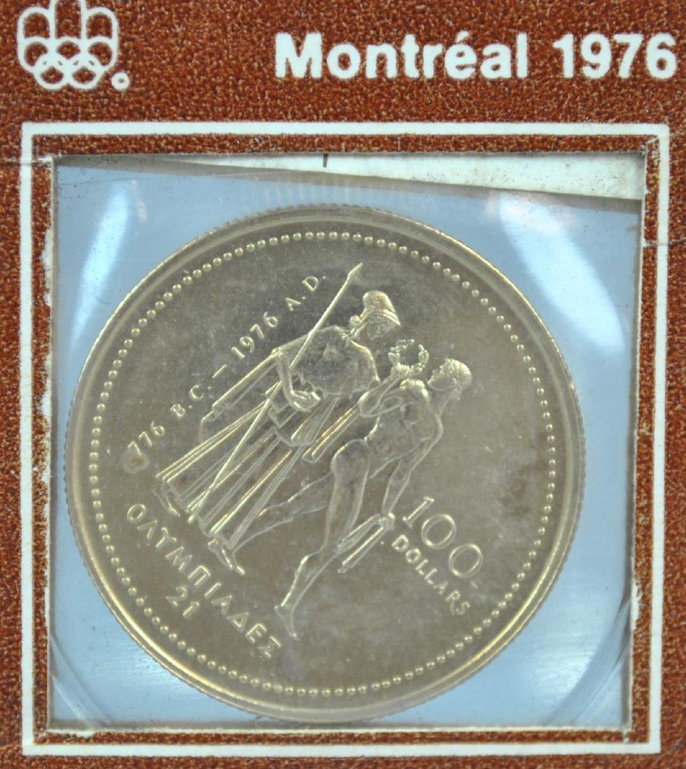 CANADIAN 1976 $100 OLYMPIC GOLD COIN - 3