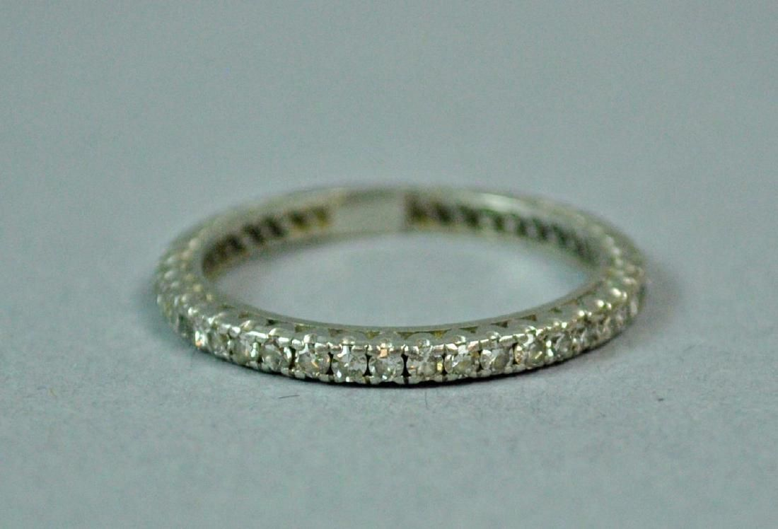 PLATINUM & DIAMOND ETERNITY BAND, 0.40CT